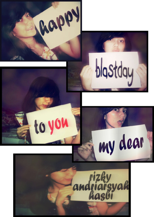"babyblueyeslek:  Happy get older my dear. Keep blast \m/ stay close, keep ""US"" and forever ever ever happily ever after  thankiss"