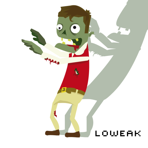 Today, a Zombie illustration ! Finally, I managed to create a cartoon zombie for my work ! 2 more and I can do a Night of the Living Dead V2