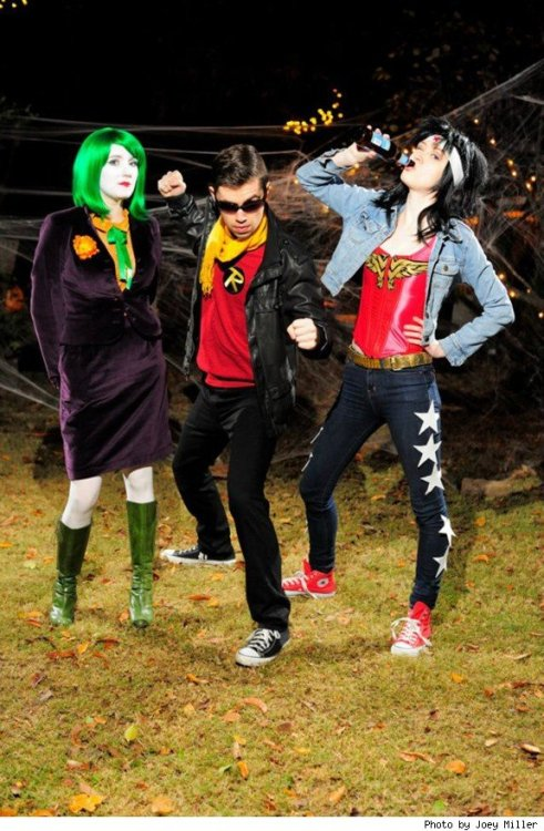 @Essa_Dee as the Joker, Chris Haley as Robin, Amy Gregory as Wonder Woman (photo by Joey Miller)More ComicsAlliance reader and contributor costumes.