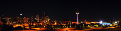 "(via 500px / Photo ""Denver Skyline at night "" by Jeff Cofer)"