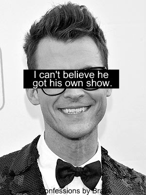I can't believe they are giving Brad Goreski his own show. He was so bad to Rachel Zoe. I can't believe Bravo would do that to her. It's disrespectful.   It is disrespectful to Rachel, but I'm still gonna watch it.
