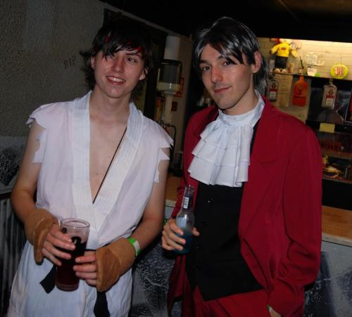 Me & Ryu my best friend Ciaran at the Halloween bash. He was freezing when we were queueing outside in the rain, poor guy. I said he needs to beef up! xD