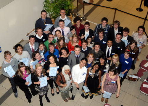 See if you can spot me! This was taken at my university prize-giving :)