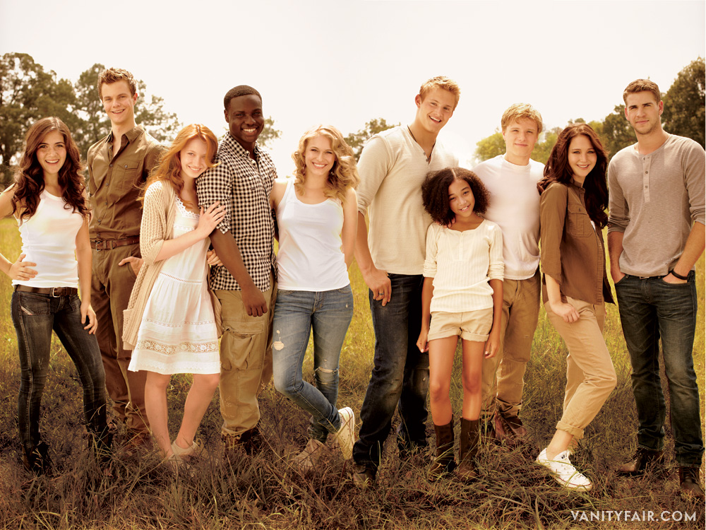 Hunger Games cast in Vanity Fair.