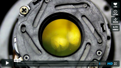 photojojo:  Absolutely mesmerizing. Watch this aperture iris open and close at 120fps. Watch an Aperture Iris Open & Close at 120fps