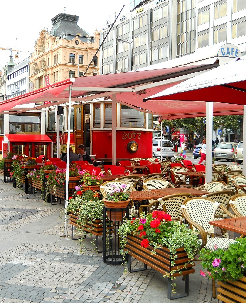 Cafe, Prague, Czech Republic, by @ramblingtart