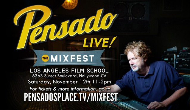 Excited for Mixfest with Dave Pensado, Jean-Marie Horvat, and Eric Valentine in 10 days! Though an audio-related event, it will be held at the Los Angeles Film School. I'll be flying out to L.A. the 11th-15th!