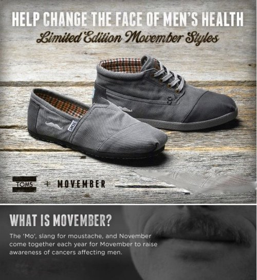 movember toms! these are limited edition so get yo'self here!