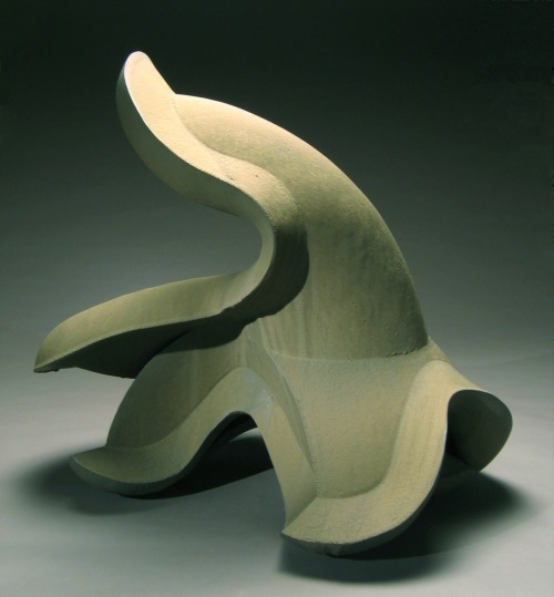 "Brian Kakas: Dimensional Transitions Series #5, 2008White Stoneware, slab built, 43"" H x 28""W x 35""L, Cone 7 Reduction"