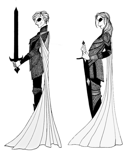 "Brienne of Tarth and Ser Jaime Lannister from the ""A Song of Ice and Fire"" series."