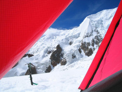 View from Our Tent, Illimani High Camp by Michael Bollino on Flickr.
