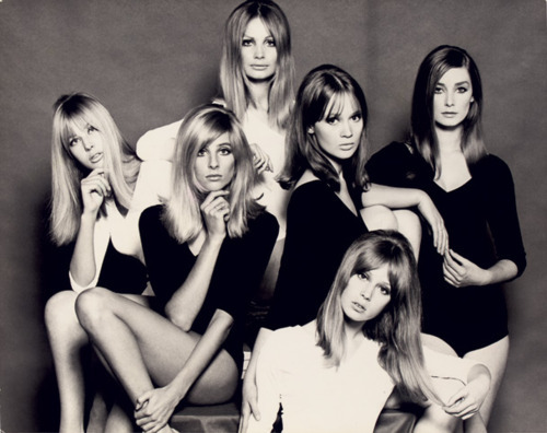 oldjimmypage:  mccartney-girl:  Top Models Of The 60's: From left, Jenny Boyd, Jill Kennington, Sue Murray, Celia Hammond, Pattie Boyd, and Tania Mallet.  im just gonna reblog this again because it's sexy. and i wish i was there.