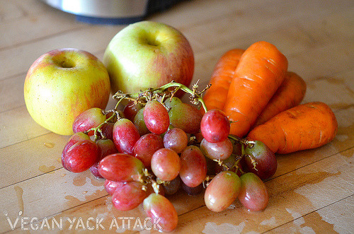 Happy Raw Wednesday, everybody! Here are some of the refreshing ingredients in my Orange Juice without the Oranges, check out the wonderfully raw recipe at Vegan Yack Attack!