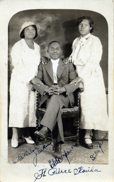 The Spences Sister Bulah Jenkins, Elder Spence & Sister Spence Ft. Pierce, Florida [Spence Family Album] ©WaheedPhotoArchive, 2011