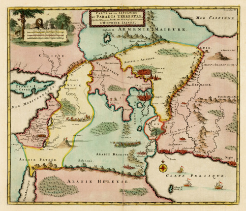 cartographymaps:  Unknown, 1700, Garden of Eden & Cyprus
