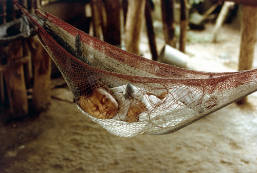 Honduran baby sleeping on Flickr.
