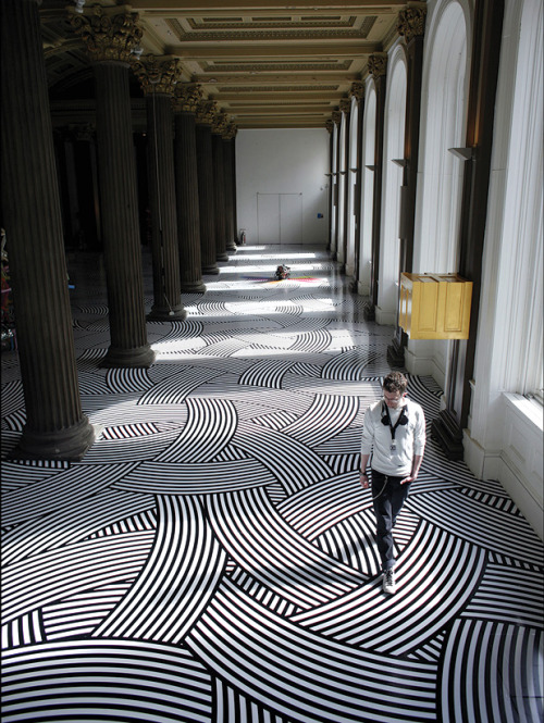 stua:  Floor installation by artist Jim Lambie