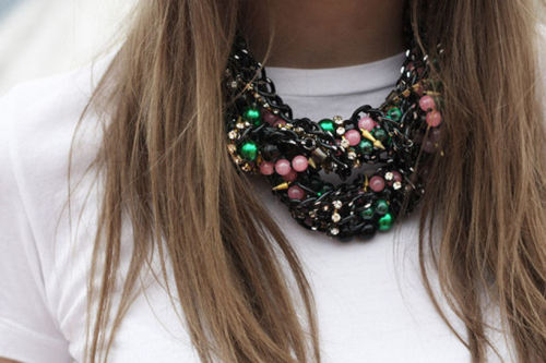 I need a statement piece like this to wear with solids esp.