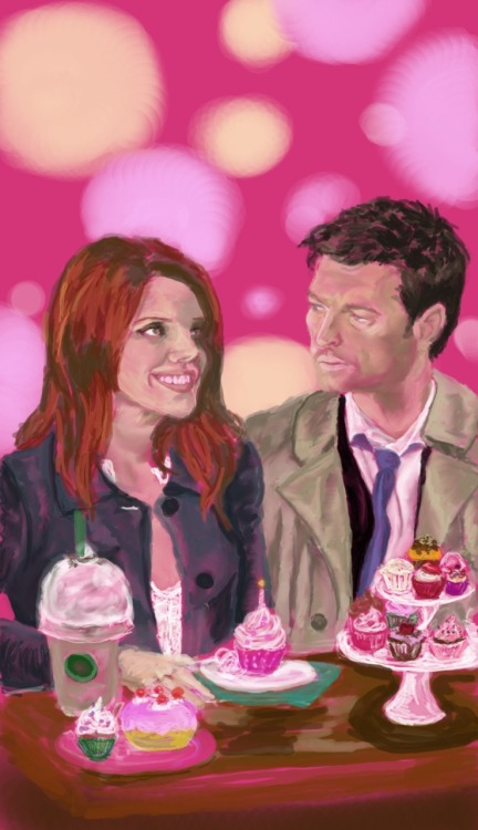 Happy birthday, Alicia <3. Castiel/Anna GIMP Open Canvas November 2011