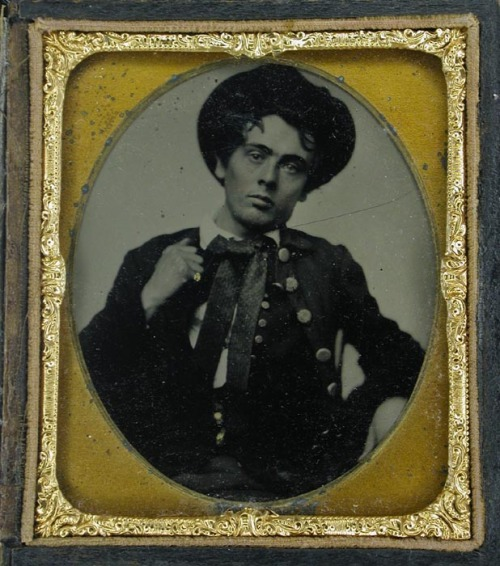 "ca. 1850's, ""Portrait of Young Mr. Hayden, A Native of New Orleans"", J.H. Huron via I Photo Central"