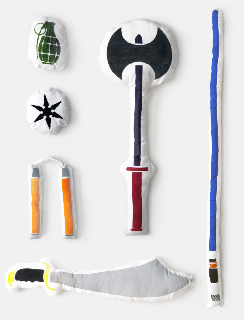 Pillow Fight Gear! This is a good christmas present idea.  Via Design You Trust