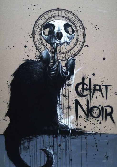 chat noir haute goth poster