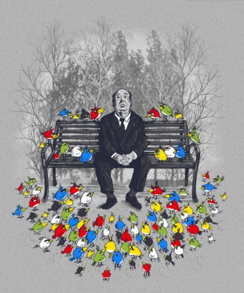 creativefiasco:  (Hitchcock x Angry Birds Mash-Up)