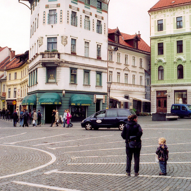 | ♕ |  Old Town Square in Ljubljana  | by © Peter Gutierrez | via ysvoice