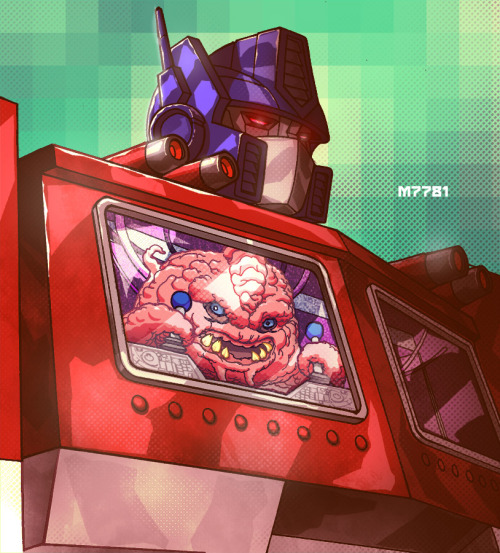 justinrampage:  Krang has a new robot to boss around in Marco  D'Alfonso's Teenage Mutant Ninja Turtles / Transformers remix. Crazy wad of gum! Related Rampages: Mega Mario | Downside of a Batcave (More) Optimus Prime x Krang by Marco  D'Alfonso (Tumblr) (deviantART) (Twitter) Via: hello-zombie