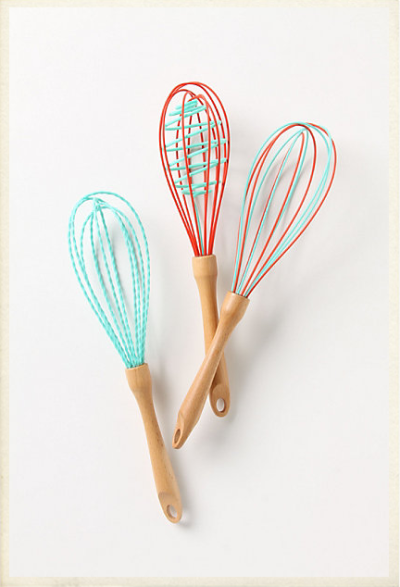 Um, I am pretty sure these are the cutest whisks I have ever seen. I should probably add them to the Gift Guide, but I think I'm going to have to go out and get some for myself, stat. My kitchen could use a little cuteness! Love, Nik
