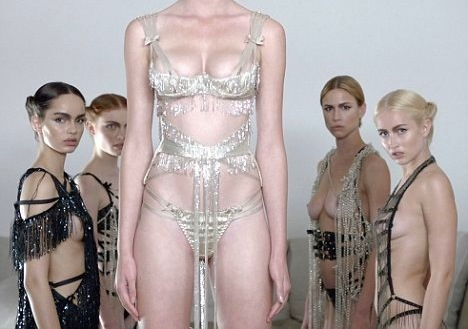 Um…wow. Someone needs to do a burlesque routine in this. froufroufashionista:  Crystal detailed lingerie from the Agent Provocateur Soirée collection.