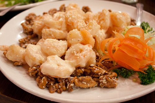 Honey Walnut Prawns Recipe: [here]