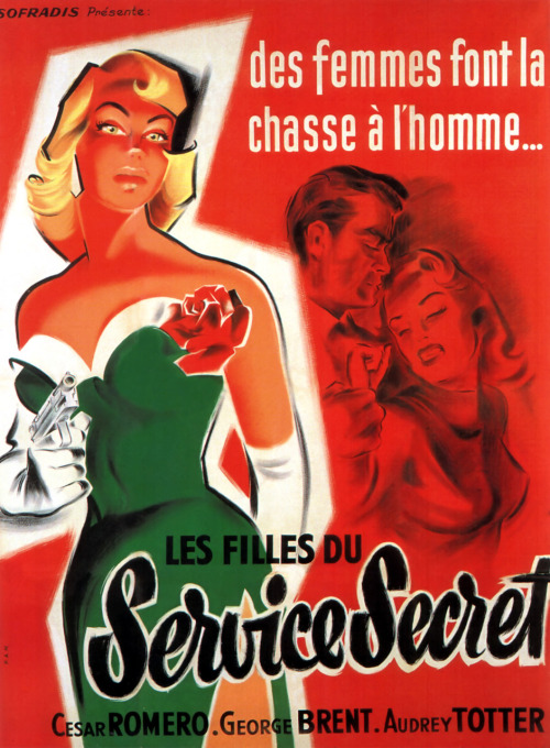 the-asphalt-jungle:  FBI Girl (1951) French poster