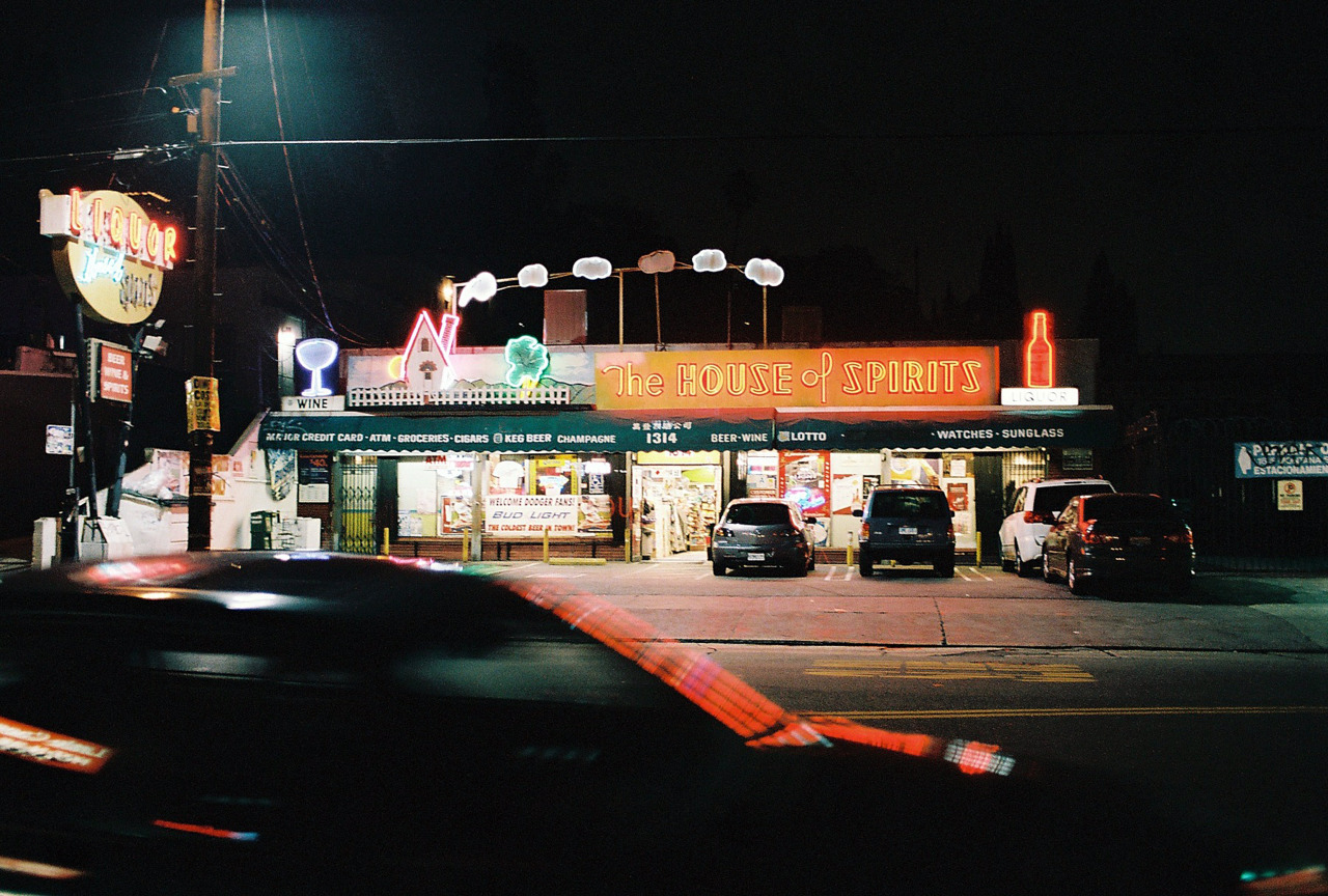 Echo Park's The House of Spirits. Los Angeles, CA.  [Nikon F3. Kodak Portra.]