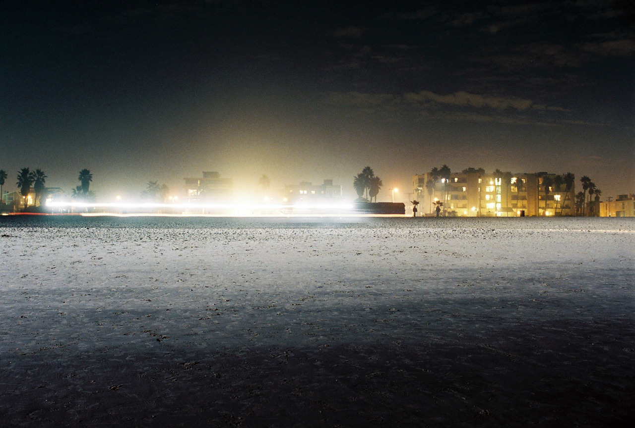 Venice Beach at Night. Los Angeles, CA. [Nikon F3. Kodak Portra.]