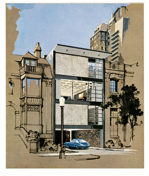 apartment9e:  weeklyspectator: 1962 … Playboy townhouse by x-ray delta one on Flickr.