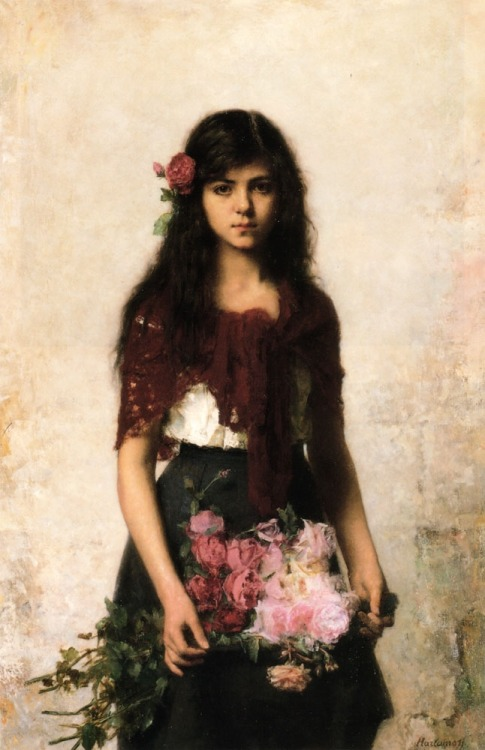 The Flower Seller by Alexei Alexeivich Harlamoff