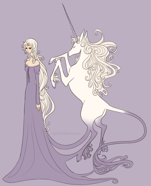 princessnijireiki:  crystallizedtwilight:  pirateking74:  Lady Amalthea by ~CrystallizedTwilight  occasionally I find my old art floating around here on tumblr.  Happy birthday to Peter S. Beagle, and I cannot wait for the 2013 TLU theatrical tour to kick off. :DD