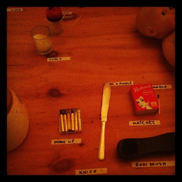 Props table.  (Taken with Instagram at Format)
