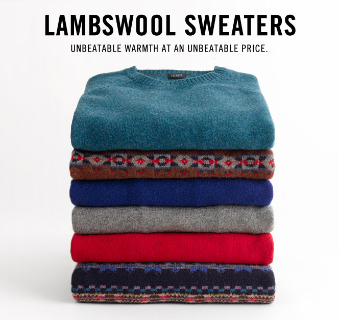 evolutionofagentleman:  J. Crew lambswool sweaters..  I own so many…