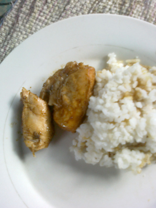 ADOBO LOCOOO!My precious! What else can I say? It's my favorite, period. Haha. Ever since I learned to eat,my mother always serves me this. Pork meat,'dahon ng laurel',soy sauce,vinegar,and this precious meal wouldn't be complete without it's perfect partner—-RICE!!!I <3 it! Like it too? Or maybe rebl0g? :3