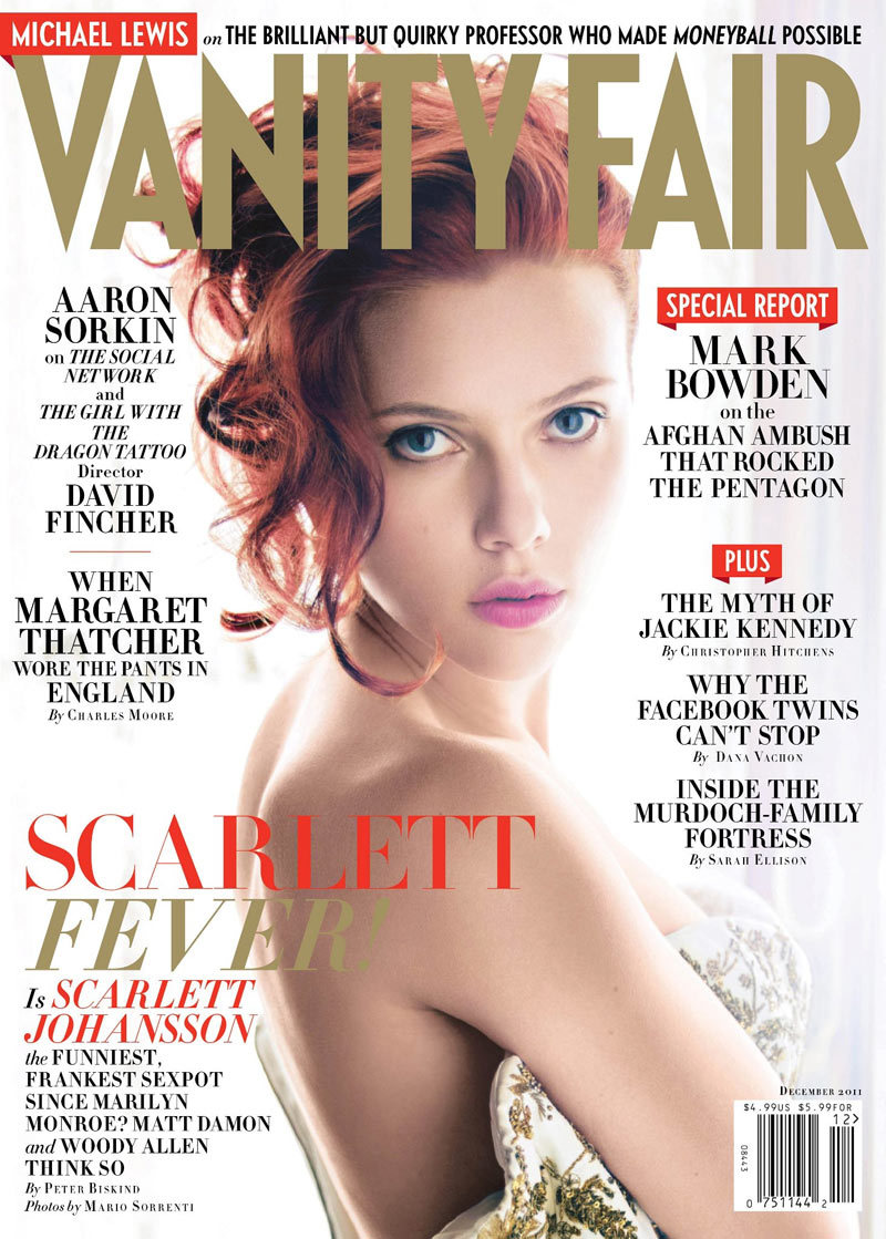 Scarlett Johansson by Mario Sorrenti in Vanity Fair December 2011