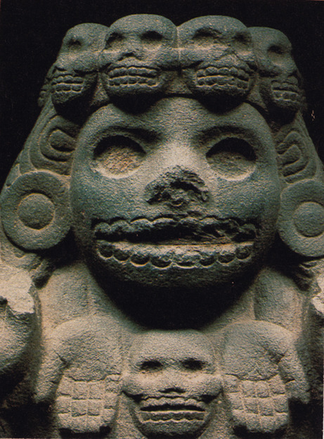 "deerghosts:  Mictecacíhuatl:-Also known as ""Dama de la Muerte."" She was queen of Mictlán, the 9th and final level of the underworld. She was believed to have been born, then sacrificed as an infant. Her job was to watch over the bones of the deceased. The Aztecs worshipped her as a goddess and, when their celebrations collided with Spanish traditions, the modern day festival Díá de los Muertos was born."