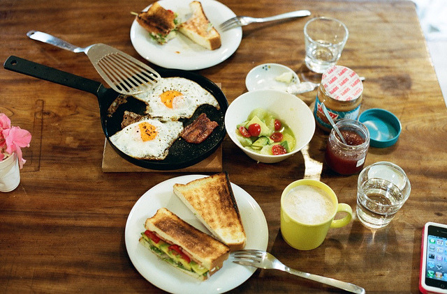 johnsteinbeck-:  breakfast by miwaramone on Flickr.