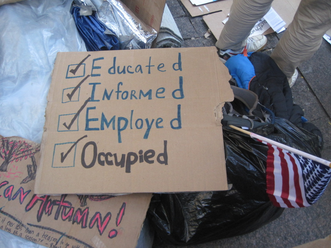 I am the 99%: EDUCATED, INFORMED, EMPLOYED, OCCUPIED.