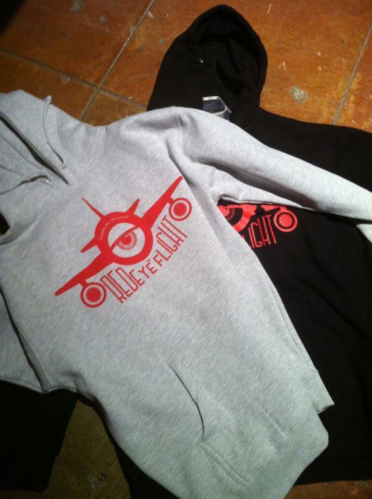 "theredeyeflight:  RedEye Flight ""Takeoff"" pullover hoodies. Available in grey and black. $50 a pop. They will also be dropping on www.digitalgravel.com in a couple hours."