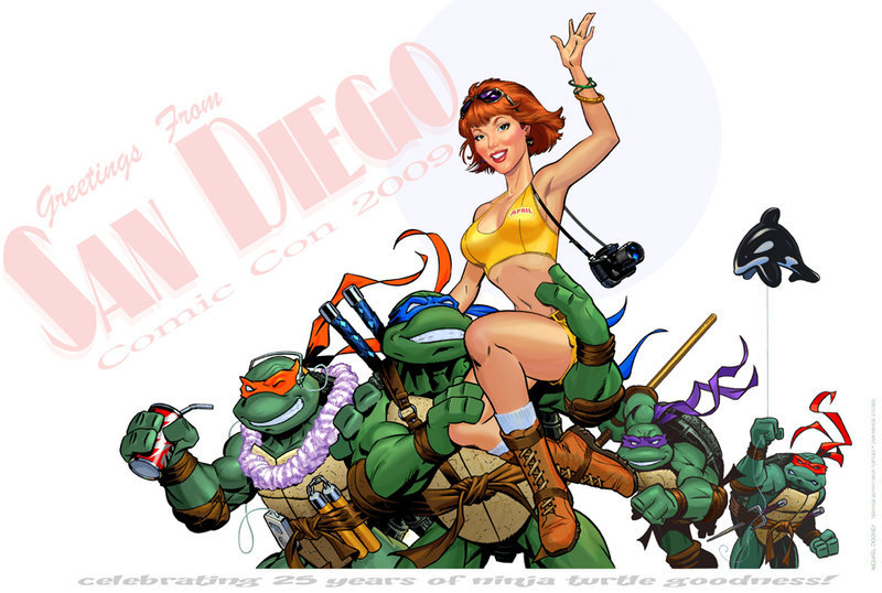 Ninja Turtles go to California by ~doonboy