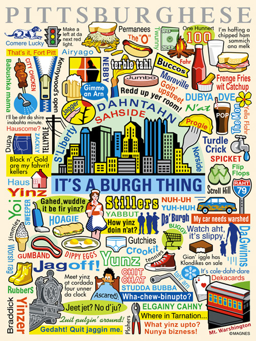 a Pittsburghese poster found on Tumblr