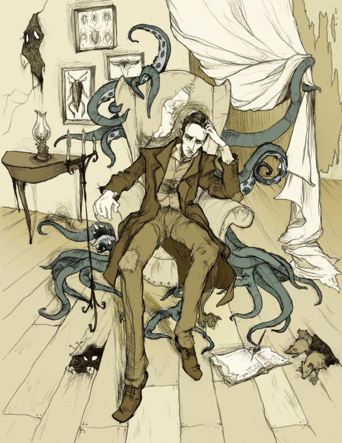 tentaclesislove:  H.P. Lovecraft by ~MirrorCradle