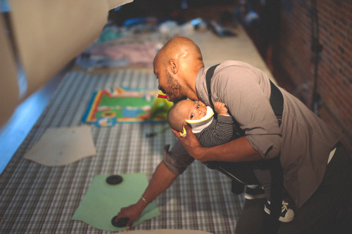 Maikoiyo Alley-Barnes of Tarboo Inc. with his son.